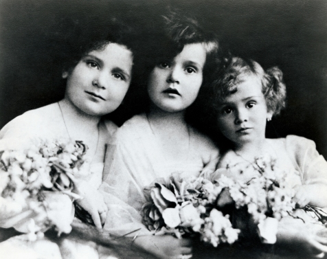 The Gabor Sisters as Children